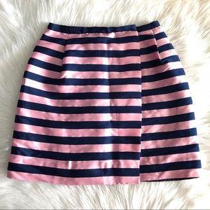 01538ebd75 J. Crew Skirts | J Crew Pink Navy Striped Pencil Wrap Skirt Size 2 ...